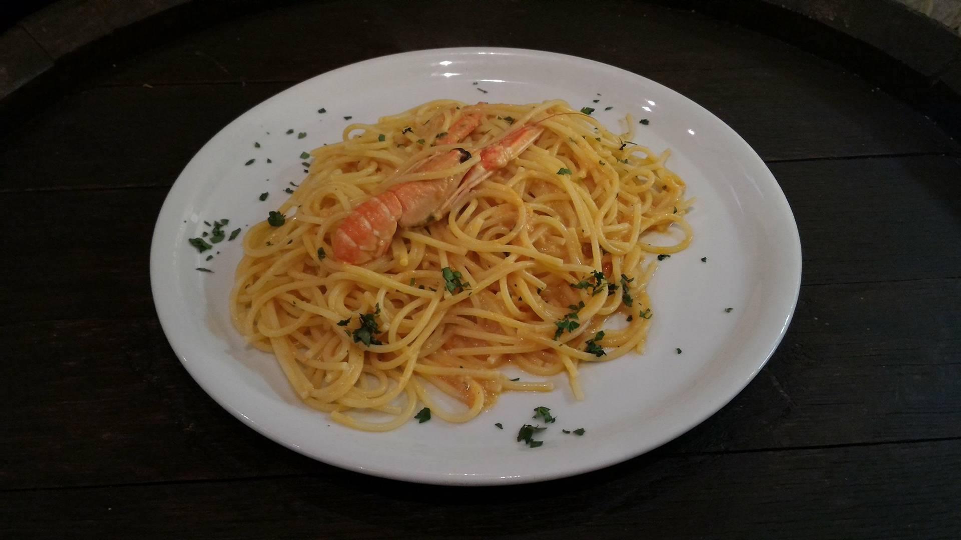 Spaghetti agli scampi livorno